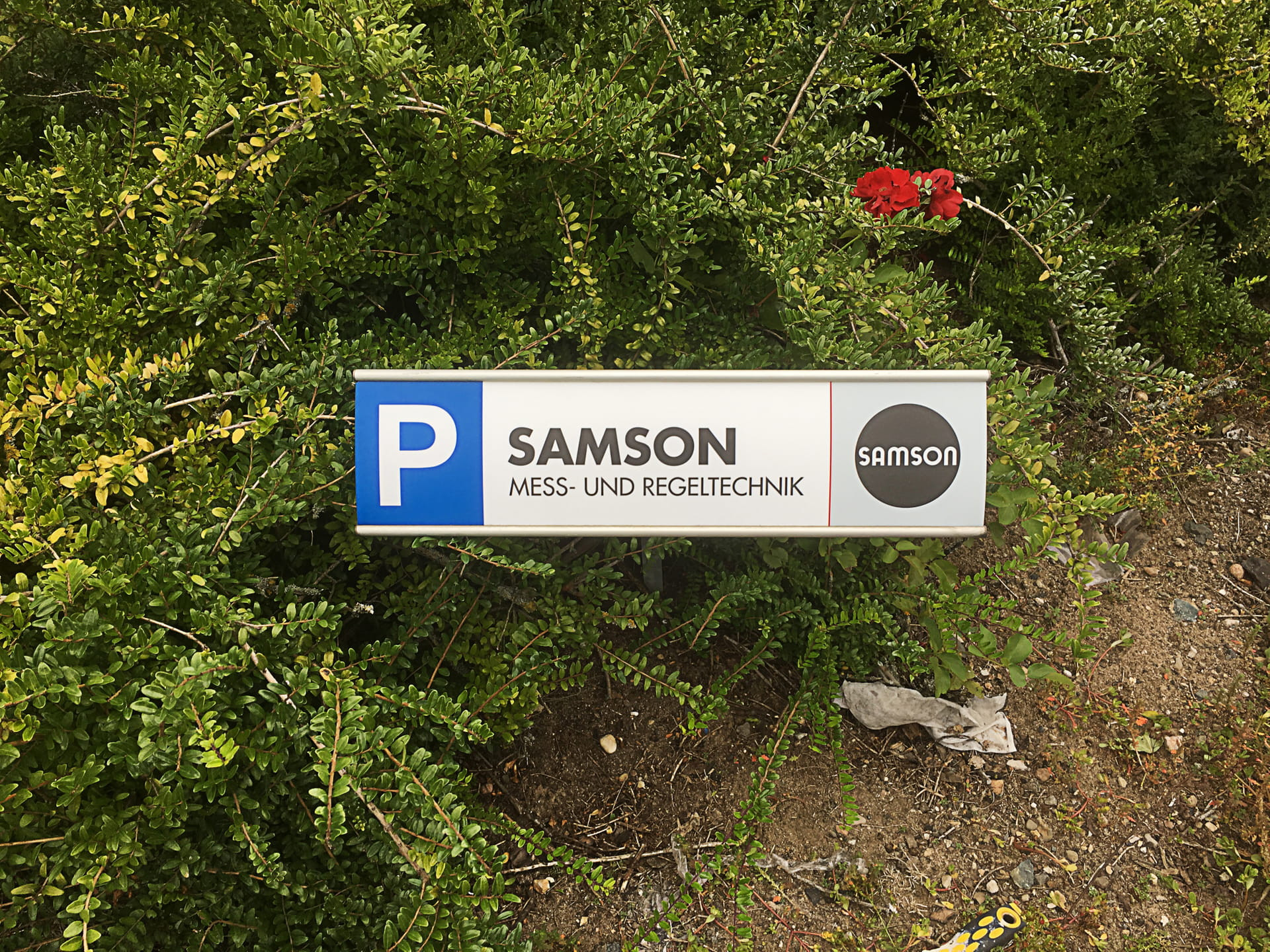 Parking sign Signposting Lettering (Labelling) Frankfurt Samsong from anplakt